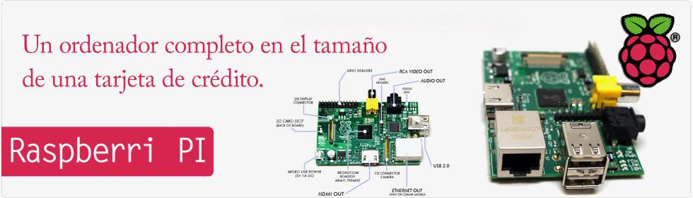 Raspberry PI con el tamaño de una tarjeta de crédito.