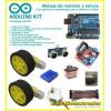 Kit Manejo de motores y servos, componentes de robot + Arduino UNO