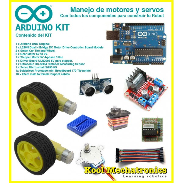 Kit manejo de motores y servos componentes robot