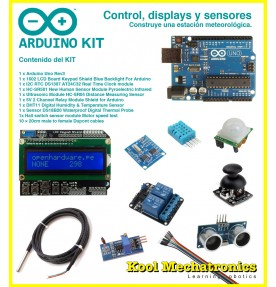 Kit Control, displays y sensores + Arduino UNO