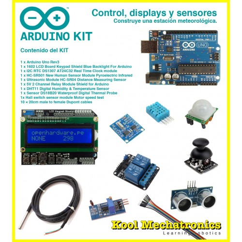 Kit control displays y sensores arduino uno