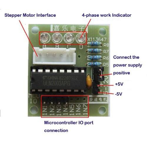 Stepper motor 28byj48 y driver board uln2003 5v 4 phase 5 line for 5 phase stepper motor driver